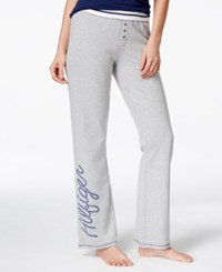 Tommy Hilfiger Logo Bootcut Lounge Pants Heather Grey