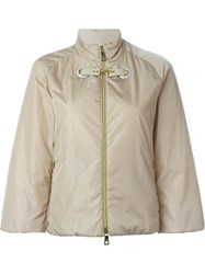 Fay Padded Boxy Jacket Nude And Neutrals