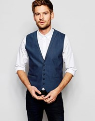 Selected Homme Vest With Lapel In Skinny Fit Blue