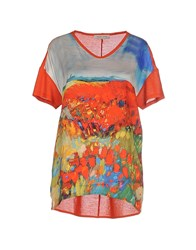 Angelo Marani Topwear T Shirts Women Red