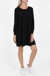 Paul And Joe Silk Drape A Line Dress Black