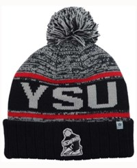 Top Of The World Youngstown State Penguins Acid Rain Pom Knit Hat Heather Gray Black Red