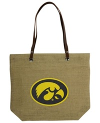 Little Earth Iowa Hawkeyes Burlap Tote Brown