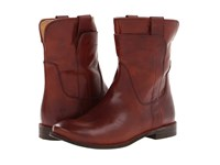Frye Paige Short Riding Redwood Smooth Vintage Leather Women's Pull On Boots Burgundy