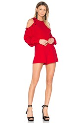 Alexis Asher Romper Red