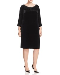 Marina Rinaldi Dicembre Velvet Beaded Dress Black
