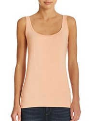 Lord And Taylor Iconic Fit Slimming Scoopneck Tank Peach Blossom