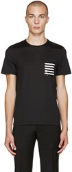 Burberry Black Sequin Pocket T Shirt
