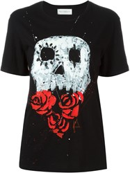 Faith Connexion Skull Print T Shirt Black
