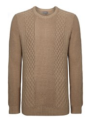 Linea Perriand Side Cable Knit Jumper Stone