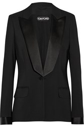 Tom Ford Satin Trimmed Stretch Cady Tuxedo Jacket