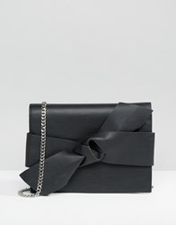 Mango Bow Detail X Body Bag Black
