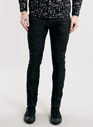 Topman Premium Black Slowfade Stretch Skinny Fit Jeans