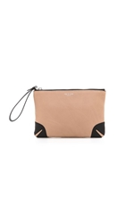 Rag And Bone Flat Zip Clutch Nude