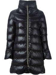Herno High Collar Padded Coat Blue