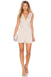 Bcbgeneration Drape Wrap Romper Tan