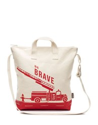 Brika Be Brave Cotton Canvas Tote Red Natural