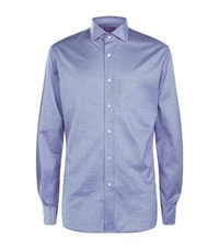 Ralph Lauren Aston Stretch Marl Shirt Male Blue