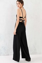 Kimchi And Blue Libby Lace Up Jumpsuit Black