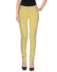 Twin Set Jeans Trousers Casual Trousers Women Light Yellow