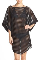 Women's Ted Baker London Shadow Stripe Mesh Cover Up Caftan