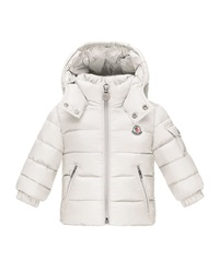 Moncler Jules Zip Front Puffer Coat White Size 12M 3