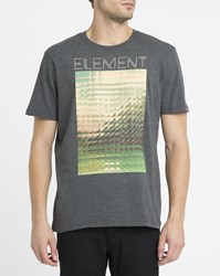 Element Grey Refract Print T Shirt