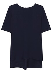 Adam By Adam Lippes Navy Crepe T Shirt
