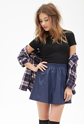 Forever 21 Faux Leather Flared Skirt