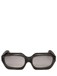 Kuboraum Berlin Burnt Rectangular Frame Sunglasses