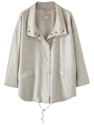 Poetry Lightweight Coated Jacket Silver Grey