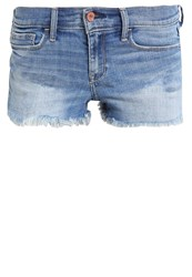 Abercrombie And Fitch Core Denim Shorts Med Blue Denim