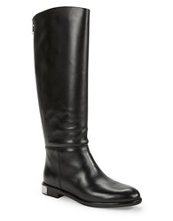 Marc By Marc Jacobs Kip Leather Knee High Boots Black