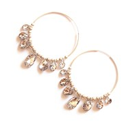Miss High And Low Silver Swarovski Chandelier Earrings White Silver