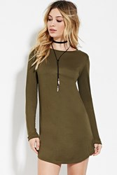 Forever 21 Classic T Shirt Dress Olive