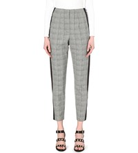 French Connection Empire High Rise Cropped Crepe Trousers Black Multi Blk