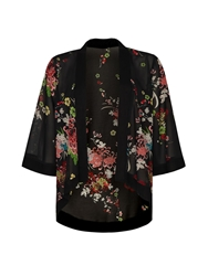 Mela Loves London Scattered Print Kimono Black