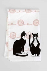 Cats Yarn Tea Towel Urban Outfitters