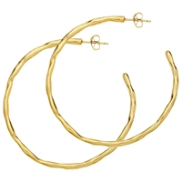 Dower And Hall 18Ct Gold Vermeil Large Ripple Hoop Earrings Gold