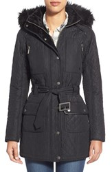 Women's Barbour 'Katana' Quilted Parka With Faux Fur Trim