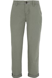 J Brand Alex Stretch Cotton Twill Slim Fit Pants Green