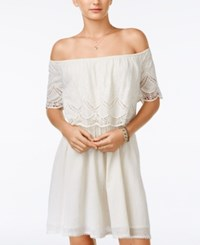 American Rag Embroidered Off The Shoulder Dress Only At Macy's Off White