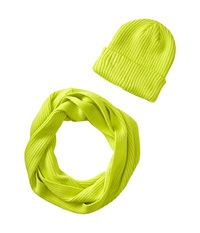 San Diego Hat Company Knh3338 Knit Scarf Beanie Set Electric Lime Scarves Green