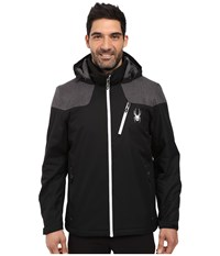 Spyder Vyrse Jacket Black Polar Crosshatch Cirrus Men's Jacket