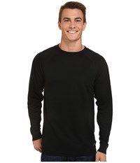Terramar Authentic Thermal Long Sleeve Crew Black Men's Long Sleeve Pullover