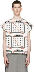 J.W.Anderson Tricolor News Text T Shirt