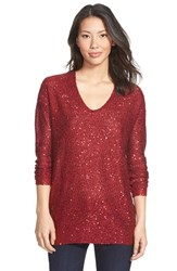Women's Dknyc Sequin Tunic Pullover