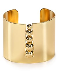 Aqua Beatrix Ball Cuff Gold