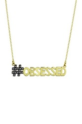 Ariella Collection Obsessed Pendant Necklace Metallic