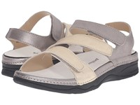 Drew Shoe Angela Dusty Multi Metallic Leather Women's Sandals Neutral